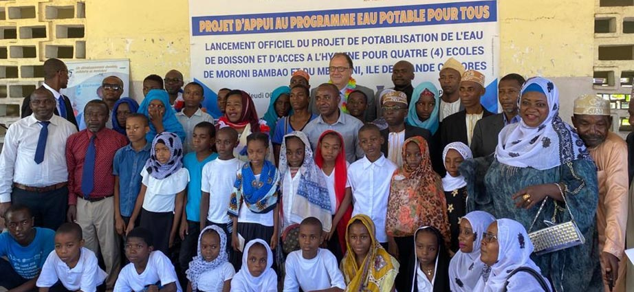 A dynamic NGO working for the purification of water in Moroni in the Comoros